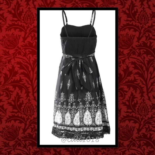 Other short dress Black & White Free People Bohemian Anthropology Hippie Lace on Tradesy Image 2