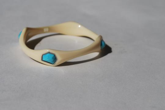 Ippolita New Ippolita white resin 4 stone turquoise doublet bangle bracelet