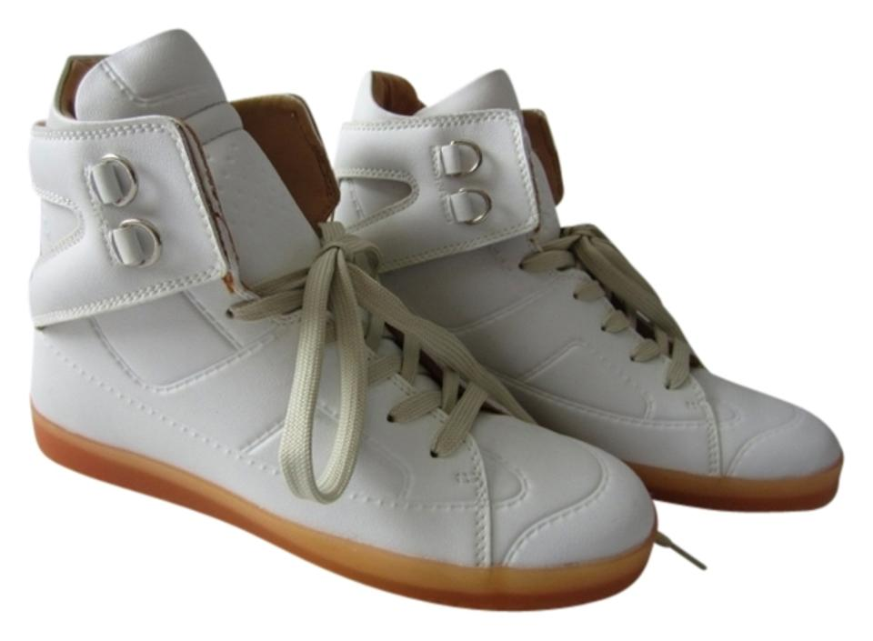 6b7ddf64fa85 Maison Martin Margiela x H&M Limited Edition Sneakers Leather White  Athletic Image 0 ...