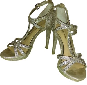 Gianni Bini Jeweled Prom Silver Formal