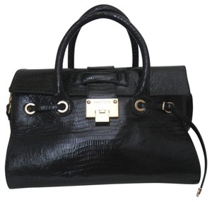 Jimmy Choo Rosalie Lizard Satchel in Black