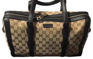 Gucci Satchel in Beige/Ebony