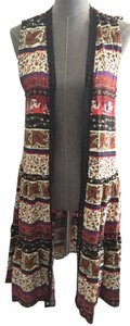 Monteau Los Angeles Tribal Vest Cardigan