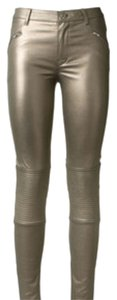 BLK DNM Skinny Pants Gold