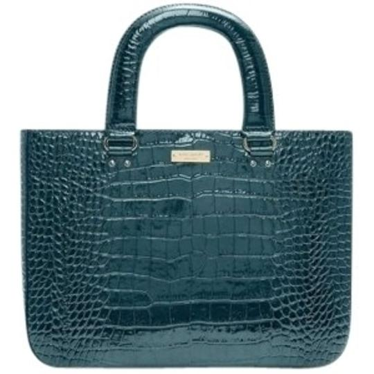 Preload https://item1.tradesy.com/images/kate-spade-knightsbridge-jaspercrocodile-embossed-leatherstyle-pxru2803-blue-teal-patent-leather-tot-143675-0-0.jpg?width=440&height=440