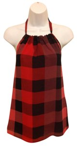 DKNY Plaid Halter Top