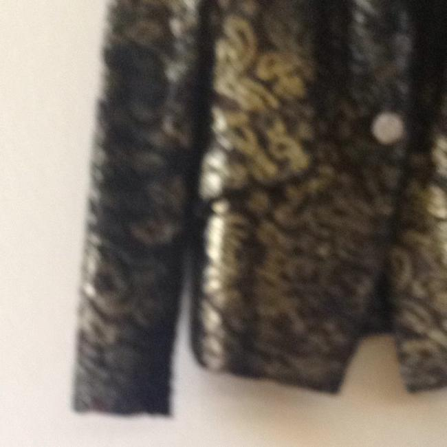 Christian Lacroix Black And Gold Lace Blazer