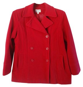 Sonoma Life & Style Peacoat Lined Red Jacket