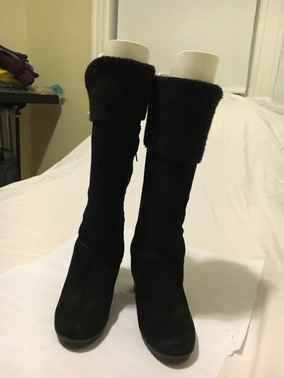Kenneth Cole Long Black Suede Boots Image 1