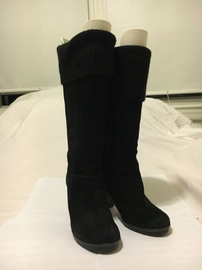 Kenneth Cole Long Black Suede Boots Image 2