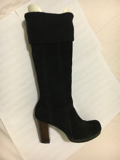 Kenneth Cole Long Black Suede Boots Image 4