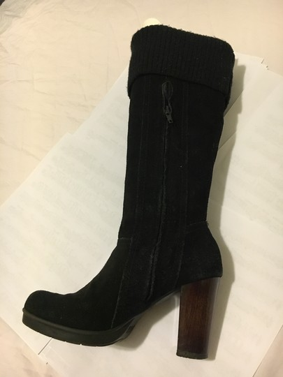 Kenneth Cole Long Black Suede Boots Image 6