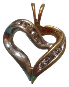 Other 10K 10KT DIAMOND SOLID YELLOW GOLD HEART PENDANT