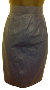 Leather Skirt Skirt Blue Leather