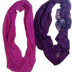 New Purple Double Scarf Set 2 Piece Round P1998