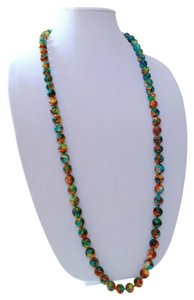 Other Gorgeous Teal Multi Color Watercolor Pearl Fashion Necklace