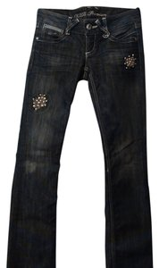 Guess Embellished Boot Cut Jeans-Distressed