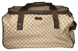 Gucci Beige & Brown Travel Bag