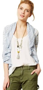 Anthropologie Knitted & Knotted Ruffle Cardigan
