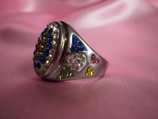 Other Multi Color Austrian Crystals in Stainless Steel (Size 6)
