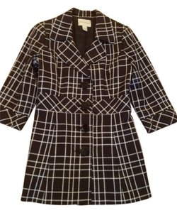 White House | Black Market Black and White plaid Jacket