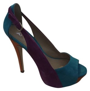 ALDO Turq. Orange Purple Platforms