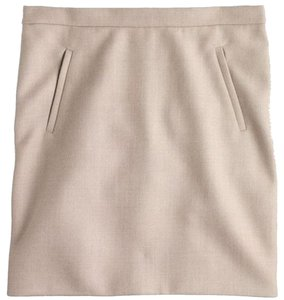 J.Crew Mini Khaki Mini Skirt Heather Stone