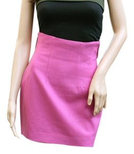 Ann Taylor High-waist Wool Pencil Mini Skirt Pink