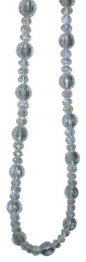 Other Brilliant sparkle clear translucent lucite textured strand necklace