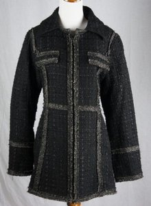 Laundry by Shelli Segal Textured Wool Zip Front Coat