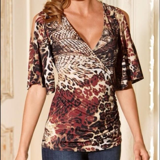 Preload https://img-static.tradesy.com/item/14371987/boston-proper-black-brown-animal-print-cold-shoulder-s-blouse-size-6-s-0-2-650-650.jpg