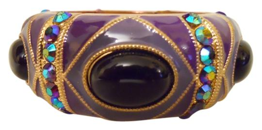 Preload https://img-static.tradesy.com/item/14372311/purple-lavender-gold-and-black-enamel-stretch-with-rhinestones-bracelet-0-1-540-540.jpg