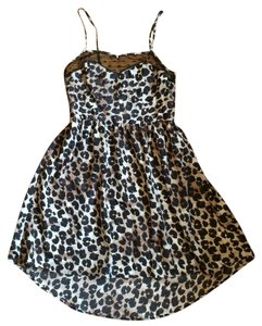 Xhilaration short dress Cheetah, black, brown on Tradesy