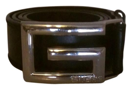 Guess Black Leather Guess Belt