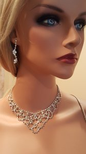 Vintage Bridal Rhinestone Necklace Set