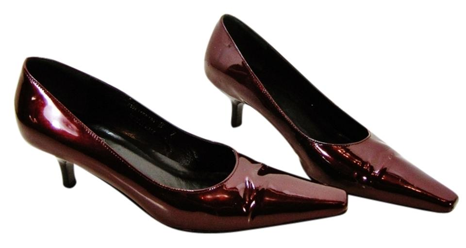 5e0d2962c04 Dark Red Patent Leather Pumps