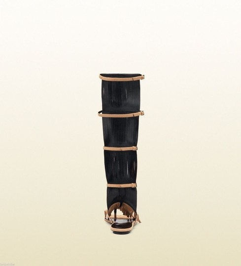 Gucci Becky Suede Knee High Brown Boots Image 6