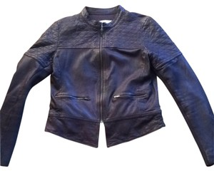 Hinge Grey shale Leather Jacket
