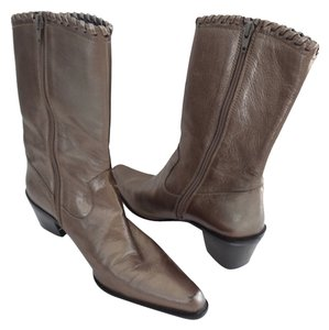 Stuart Weitzman Cowboy Size 7.5 Silver/pewter Pewter/Silver Boots