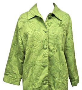 Chico's Sequins lime green Jacket