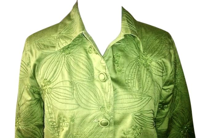 Chico's Sequins lime green Jacket Image 1