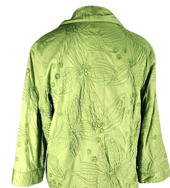 Chico's Sequins lime green Jacket Image 3