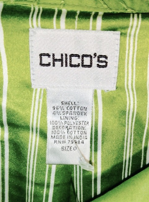 Chico's Sequins lime green Jacket Image 5