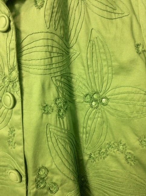 Chico's Sequins lime green Jacket Image 6