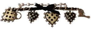 Betsey Johnson Betsey Johnson Polka Dot Heart Charm Bracelet