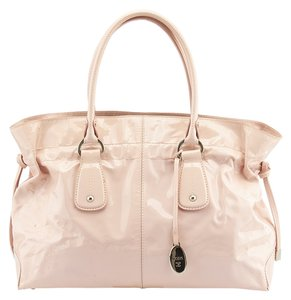 Tod's Patent Leather Tote in Pink