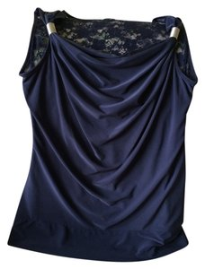 Kadin Collection Lace Top Navy