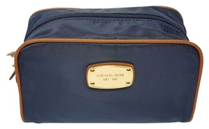 Michael Kors Michael Kors Navy Abbey Large Travel Nylon Cosmetic Case Bag Pouch