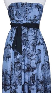 Moulinette Soeurs short dress Blue and Black on Tradesy