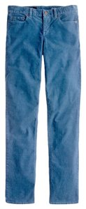J.Crew Matchstick Corduroy Cord Leg Comfortable Blue Relaxed Fit Fall Winter Straight Pants Seaport Blue